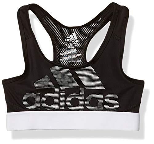 adidas Girls' Big Rest Logo Bra, Black, M (10/12)