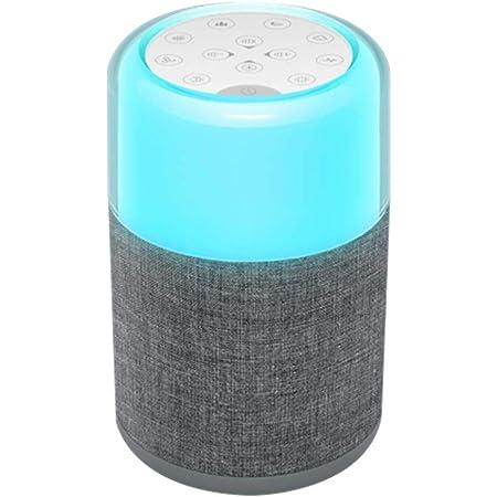 睡眠用マルチカラー調光可能ナイトライト付きjskeiホワイトノイズマシン-ヘッドフォンジャック付きベビーサウンドマシン、UL FCCアダプタ、30自然ななだめるような音、家庭、オフィス用の睡眠療法