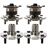 AutoShack HB020-509 Set of 4 Wheel Bearing Hub Front and Rear Wheel Hub Bearing and Assembly 4 Lugs without ABS Replacement for 1998-2002 Chevrolet Prizm 1993-1997 Geo Prizm 1993-2002 Toyota Corolla