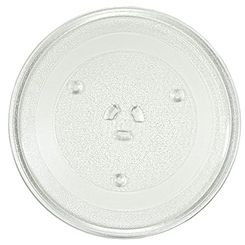 "HQRP 12.5"" 31.5cm Glass Turntable Tray Compatible with Maytag Frigidaire, Hotpoint, GE General Electric, Amana Samsung Magic Chef, Emerson Electrolux Microwave WB39X10002 Oven Plate 12.5-inch 315mm"
