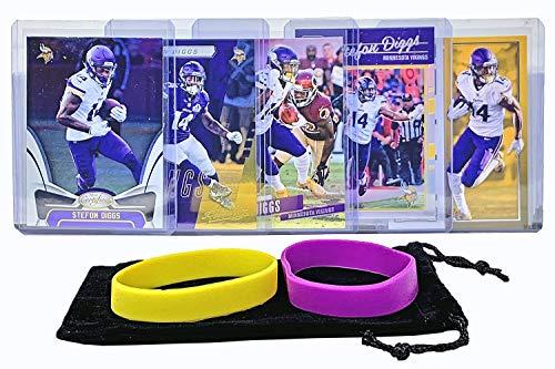 Stefon Diggs Football Cards (5) Assorted Bundle - Minnesota Vikings Trading Card Gift Set