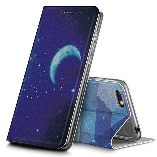 GeeMai Huawei Y5 2018/Huawei Y5 Prime 2018/Honor 7S Hülle, Premium Leder Hülle Flip Case Tasche Cover Hüllen mit Magnetverschluss Standfunktion Schutzhülle handyhüllen für Huawei Y5 2018 phone