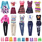 zheyistep Doll Clothes for 11.5 Inch Girl Doll 20 Pcs Casual Wear Clothes and Doll Accessories with 10 Pairs Shoes +10 Fashion Doll Dresses