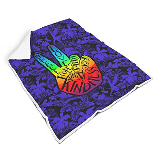 Chanpin Weich farblos hypoallergene Decke für Zimmer Nicht fusseln für Baby oder Erwachsene Familienstil Peace White 150x200cm