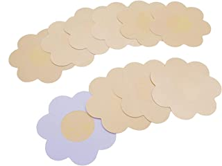 NippleCovers, Women Disposable Pasties Adhesive petals Satin Nippleless Cover