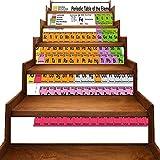 Pegatinas para escaleras de jazz, para amantes de la música, regalos para hombres y mujeres, estilo retro, con texto en inglés 'Musical', Gris-03, 7'x39.3'x6pcs