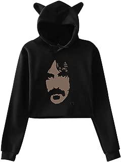 Women Sweater Frank Zappa Men's Apostrophe Cat Ear Hooded Sweatshirt Pullover
