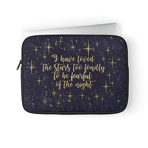 Loved Sarah Night Stars Quotes Poetry Space Sky Starry The Williams Laptop Sleeve Bag Compatible with MacBook Pro, MacBook Air, Notebook Computer, Water Repelle