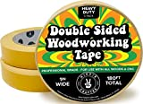 3 Pk Double Stick Tape for Woodworking - 1 inch Wide Wood Tape Double Sided for Woodworkers - 3 Packs 1' x 60 Feet (180FT Total)