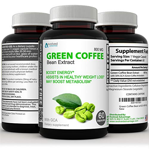 Green Coffee Bean Extract Immune Support Supplement - Max Strength Natural GCA Antioxidant Cleanse (w/ GCA 800 mg)