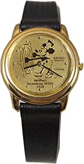 Steamboat Willie Seiko Watch Mickey Mouse Disney Gold Womens LMT. Ed.