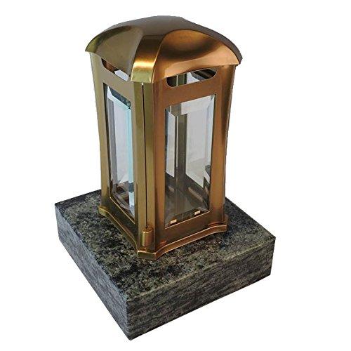 designgrab aml5agb1oliv Lampe tombale Venezia en Acier Inoxydable – Bronze, Doré, 13 x 13 x 24 cm
