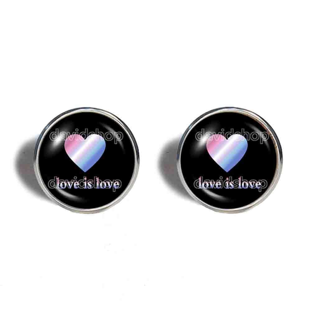 Love Is Bigender Pride wholesale Earrings He Fashion Ear New Shipping Free Shipping Jewelry Cuff