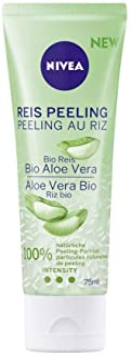 NIVEA Reis Peeling Bio Aloe Vera, natürliche Gesichtsreinigung mit hoher Peeling-Intensität, Peeling für das Gesicht ohne ...
