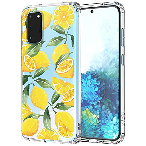 MOSNOVO Galaxy S20 Case, Lemon Pattern Clear Design Transparent Printed Plastic Hard Case with TPU Bumper Protective Case Cover for Samsung Galaxy S20