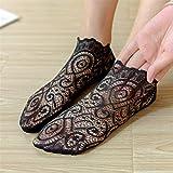 Generic Figutsga Low Cut Casual Socks für Damen Rutschfeste Bootsschuhe für Sneakers Loafers,schwarz