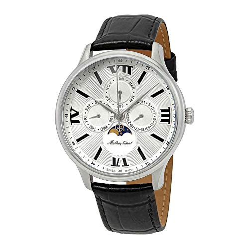 Mathey-Tissot Edmond Moon Phase Silver Dial Men's Watch H1886RAI
