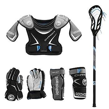 Lacrosse Unlimited Maverik Charger EKG Youth Starter Set 4-Piece - No Helmet  Youth Small