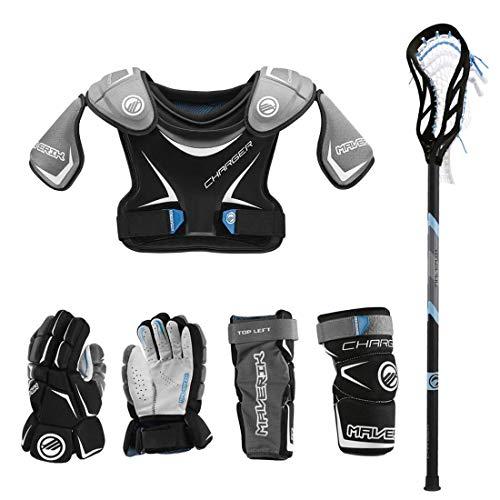 Lacrosse Unlimited Maverik Charger EKG Youth Starter Set 4-Piece - No Helmet-Youth-Medium