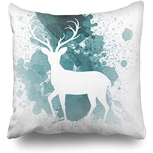 GodYo sierkussenslopen 1 pak Splash Christmas Reindeer Jolly Wildlife met kussensloop Sofa Cute