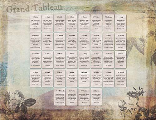 Grand Tableau (8x4+4) - Lern Edition: PVC Legeschablone mit abgedruckten Kartenbedeutungen