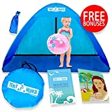 Baby Beach Pop Up Sun Shade Tent with UV Protection, Travel On The Go Sunshade Shelter Cabana Canopy for Infant Babies Toddler Boys & Girls. Portable & Light Kids Outdoor Camping Hiking Fishing Gear