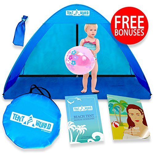 Baby Beach Pop Up Sun Shade Tent With UV Protection, Travel...