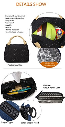 Girls Backpack With Lunch Bag, School Backpacks for Teen Girls,3 in 1 Backpack Sets 6