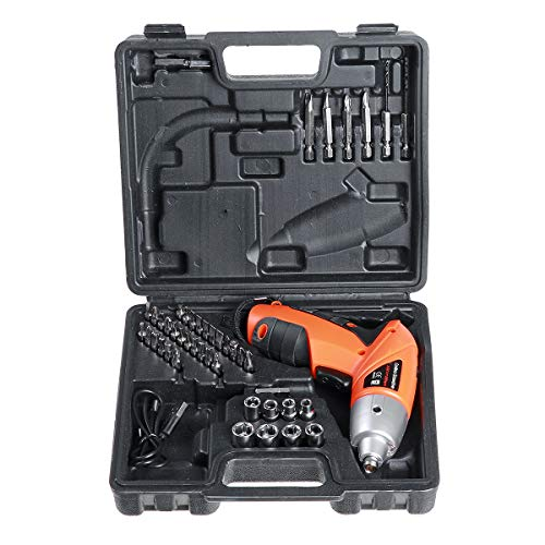 BouBou 45 In 1 Electric Screwdriver Usb Chargeable Cordless Screw Driver Mini Drill Power Tools
