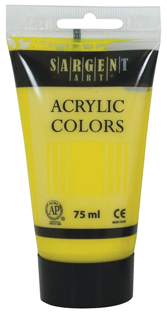 Sargent Art 23-0202 75Ml Tube Acrylic Paint, Yellow/Primary Yellow