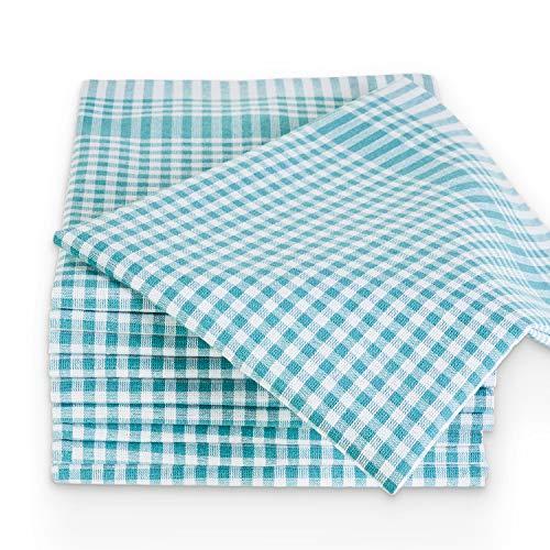 MELUNDA 5er Set Geschirrtücher 100% Baumwolle | Küchentücher | Handtücher (Grün, 45 x 65 cm)
