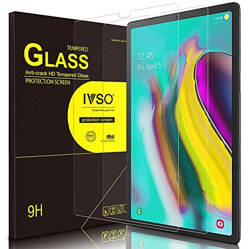 IVSO Bildschirmschutz für Samsung Galaxy Tab S5e T720/T725 10.5, 9H Festigkeit, 2.5D, Bildschirmfolie Schutzglas Bildschirmschutz Für Samsung Galaxy Tab S5e 10.5 T720/T725 10.5 Zoll Release, (2 x)
