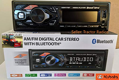 Direct Connect Plug & Play Kubota Tractor Radio Google Siri Bluetooth RTV-1100 B2650 RTV-X1100C
