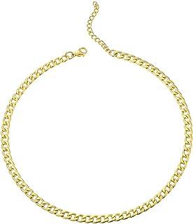 قلادة EF ENFASHION سلسلة متصلة قلادة للنساء إكسسوارات من الفولاذ المقاوم للصدأ ذهبي اللون للرجال مجوهرات الهدايا
