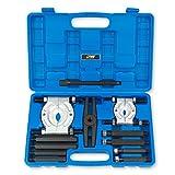 EWK 12 PCS 5 Ton Capacity Bearing Puller Set Bearing Separator Kit Bearing Splitter Bearing Removal Tool Kit