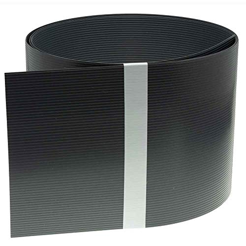 INTRA-TEC Sichtschutzstreifen Anthrazitgrau Zaun - 10 Stück aus Hart-PVC 252x19 cm, RAL 7016 für Doppelstabmattenzäune