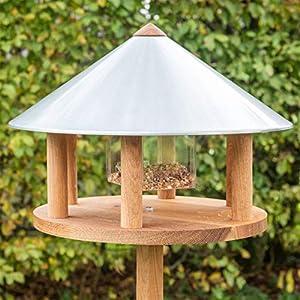 Voss.garden Birdhouse | Original Danish Design | Made From Spruce | Weather-Resistant | Round Roof