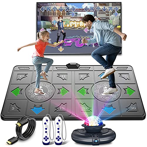 FWFX Dance Mat for Kids and Adults Musical Electronic Dance Mats with HD Camera, Double User...