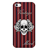 Coque Iphone 5C Tete Mort Raye Vintage