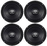 (4) Rockville RM64PRO 6.5' 800 Watt 4 Ohm SPL Midbass/Midrange Car Speakers