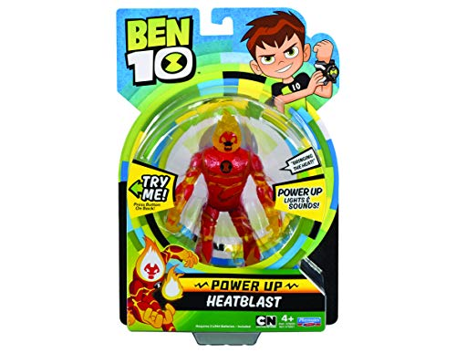 Ben 10 BEN01210 Heatblast Deluxe Power Up - Figura decorativa, multicolor , color/modelo surtido