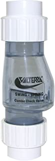 Valterra 200-CU15 PVC Swing/Spring Combination Check Valve, Clear, 1-1/2