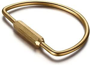 SZHOWORLD® Portable Brass Screw Lock D-shape Key Holder Creative EDC Keychain tool