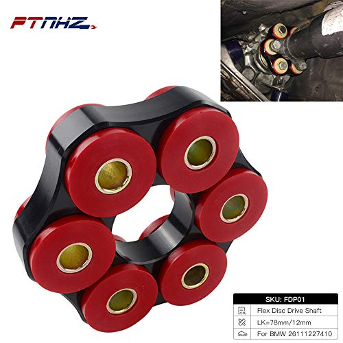 Price comparison product image PTNHZ Manual Transmission Mount Flex Disc Drive Shaft Coupling Bushing Aluminum Polyurethane 85A Compatible (FDP01)