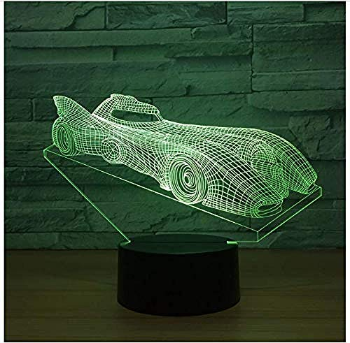 Luces nocturnas Ilusión 3D Lámparas de decoración Run steam para sala de estar, cama, bar, regalo juguetes para niños y niñas Con interfaz USB, cambio de color colorido