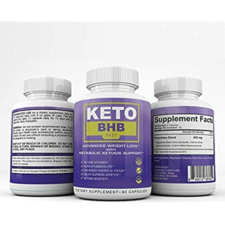 Keto BHB Fast - Advanced Weight Loss with Metabolic Ketosis Support - 180 Capsules - 90 Day Supply