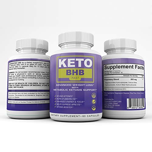 Keto BHB Fast - Advanced Weight Loss with Metabolic Ketosis Support - 180 Capsules - 90 Day Supply 1