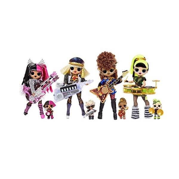 LOL Surprise OMG Remix Super Surprise , Con más de 70 sorpresas, 4 Muñecas de Moda y 4 Instrumentos Musicales