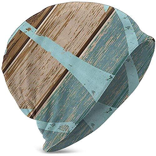 GodYo Boot anker nautische rustieke houten planken baby muts kinderen koele gebreide muts hoed voor 3-15 jaar