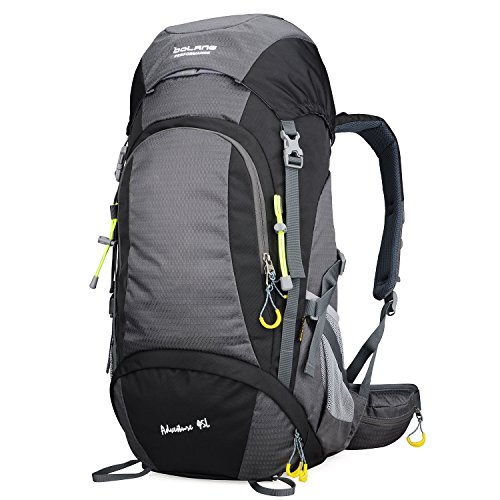 BOLANG Summit 45 Internal Frame Pack Hiking Daypack Outdoor Waterproof Travel Backpacks 8298 (Black, 45l)
